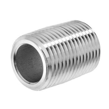 1 in. x CLOSE Schedule 80 - NPT Threaded - 304/304L Stainless Steel Pipe Nipple