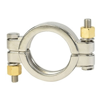 1/2 in. x 3/4 in. High Pressure Bolted Clamp - 13MHP - 304 Stainless Steel Sanitary Fitting