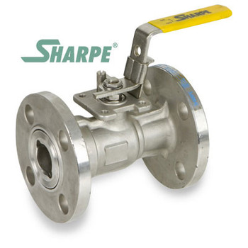 1-1/2 in. 316 Stainless Steel 150# Flanged Standard Port 1 Pc. Ball Valve w/ Mounting Pad - Series 54116