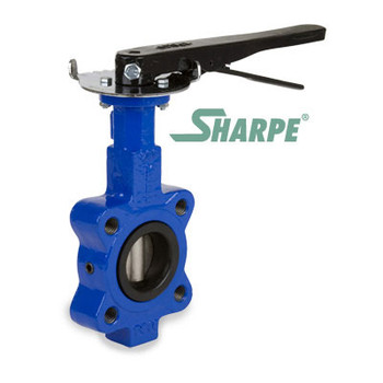 6 in. 200 PSI Ductile Iron Body, Lug Style Butterfly Valve, 316 Stainless Steel Disc & Stem, EPDM Seat, 10 Position Lever Series 17