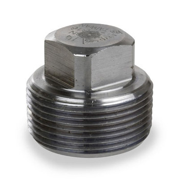 2 in. 3000# Pipe Fitting Forged Carbon Steel Square Head Plug NPT Threaded