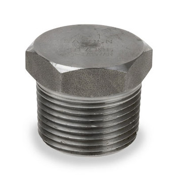 1-1/4 in. 3000# Pipe Fitting Forged Carbon Steel Hex Head Plug NPT Threaded