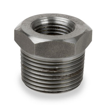 1/4 in. x 1/8 in. 3000# Forged Carbon Steel Hex Bushing NPT Threaded Pipe Fitting