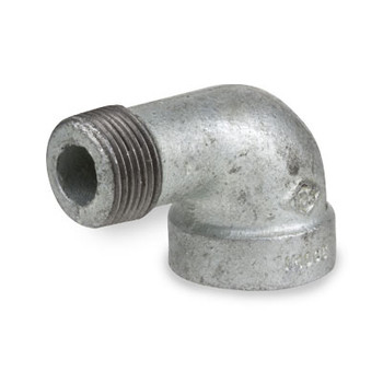 1-1/2 in. Galvanized Pipe Fitting 300# Malleable Iron NPT Threaded 90 Degree Street Elbow, UL Listed