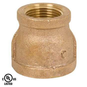1/4 in. x 1/8 in. Reducing Coupling - NPT Threaded 125# Bronze Pipe Fitting - UL Listed