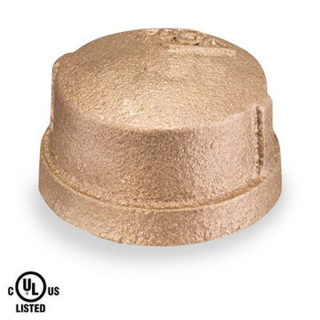 4 in. Cap - NPT Threaded 125# Bronze Pipe Fitting - UL Listed