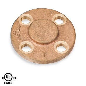 6 in. 150# Blind Flange NPT Threaded UL Listed Bronze Pipe Fitting