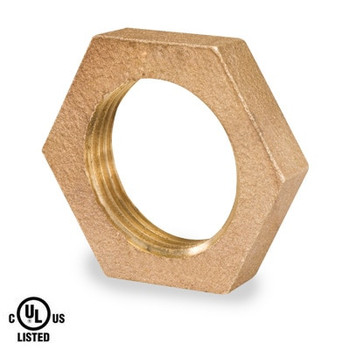 1-1/2 in. Lock Nut - NPSL Threaded 125# Bronze Pipe Fitting - UL Listed