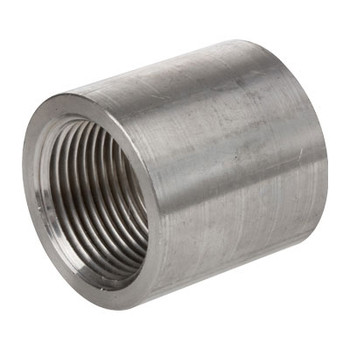 1/2 in. 1000# Stainless Steel Full Coupling 304 SS Barstock, NPT Threaded Pipe Fitting
