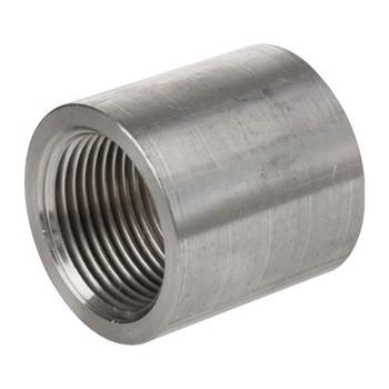 1-1/4 in. 1000# Stainless Steel Full Coupling 304 SS Barstock, NPT Threaded Pipe Fitting