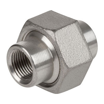 2-1/2 in. 1000# Stainless Steel Pipe Fitting Union 304 SS NPT Threaded