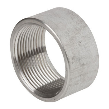 1/2 in. 1000# Stainless Steel Pipe Fitting Half Coupling 304 SS NPT Threaded