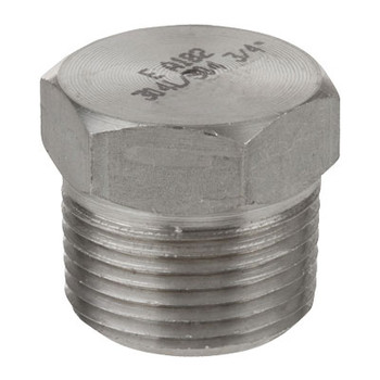 1/4 in. 1000# Stainless Steel Pipe Fitting Hex Head Plugs 304 SS NPT Threaded