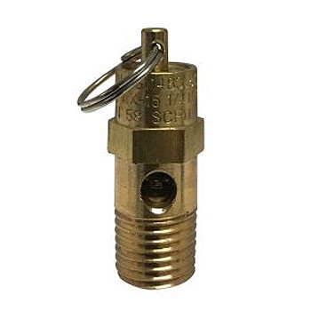 1/4 in. NPT 125 PSI Brass Non-Coded Safety Relief Compressor Valve