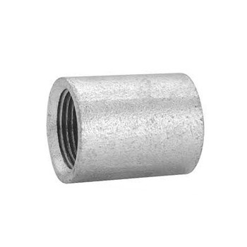 2 in. NPSC Threaded Galvanized Steel Merchant Coupling 150# Pipe Fitting