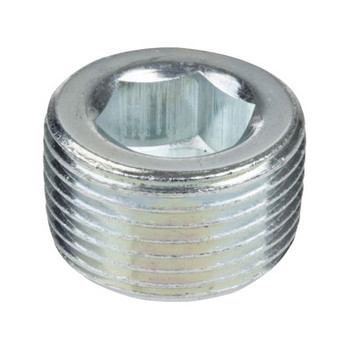1/8 in. Threaded Galvanized Merchant Steel Countersunk Hex Plugs 150# Pipe Fitting