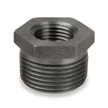 1/2 in. x 1/4 in. Merchant Steel Threaded Black Hex Bushing 150# Pipe Fitting