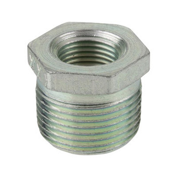 1 in. x 1/8 in. Merchant Steel Threaded Galvanized Hex Bushing 150# Pipe Fitting