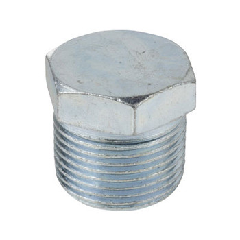 1/2 in. Threaded Galvanized Merchant Steel Hex Head Plug 150# Pipe Fitting