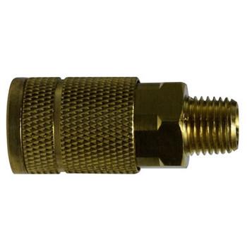1/4 in. MNPT 250 PSI Brass Parker Interchange Tru- Flate Male Coupler