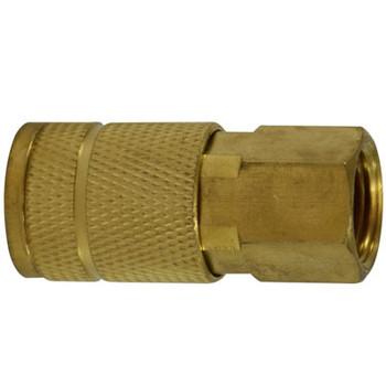1/4 in. FNPT 250 PSI Brass Parker Interchange Tru- Flate Female Coupler