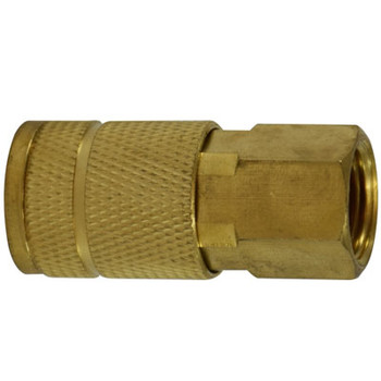 3/8 in. FNPT 250 PSI Brass Parker Interchange Tru- Flate Female Coupler