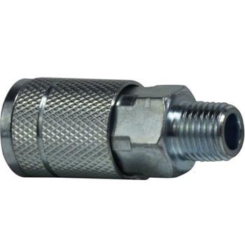3/8 in. x 1/4 in. MNPT 250 PSI Steel Parker Interchange Tru- Flate Male Coupler