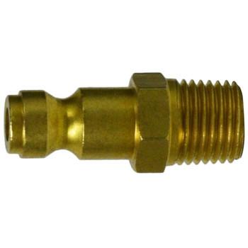 1/4 in. MNPT 250 PSI Male Plug Brass Parker Interchange Tru- Flate Pneumatic Fitting