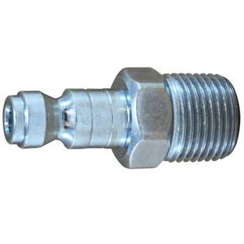 3/8 in. x 1/4 in. MNPT Steel Male Plug Parker Interchange Tru-Flate Pneumatic Fitting
