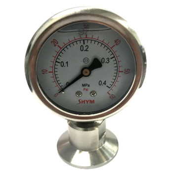 "1.5 in. TC with 2"" dial (30 PSI) Tri-Clamp Pressure Gauge"