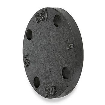 8 in. 125 lb Cast Iron Galvanized Blind Flange