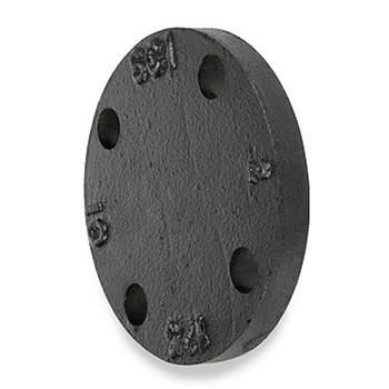 10 in. 125 lb Cast Iron Galvanized Blind Flange