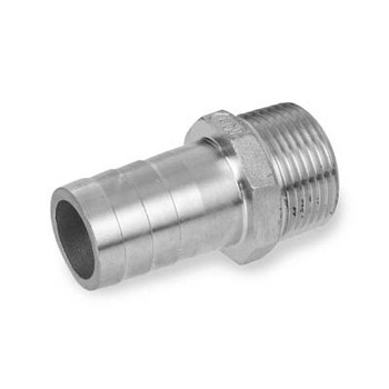 2 in. Hose x Thread 316 Stainless Steel King Nipple
