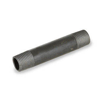 2 in. x 4 in. Black Carbon Steel Welded Schedule 40 Left/Right Pipe Nipple