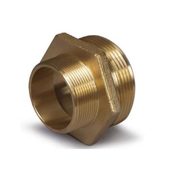 2-1/2 in. MNST x 2-1/2 in. MNPT Thread Adapter, B16 Brass Fire Hydrant & Hose Fitting