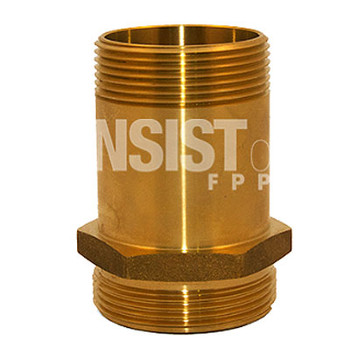 2-1/2 in. MNPT x MNST Brass Rack Nipple Fire Protection & Standpipe Equipment