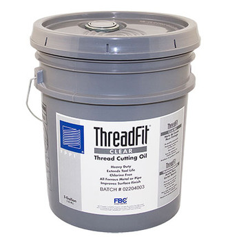 ThreadFit® CLEAR Cutting Oil, 5 Gallon