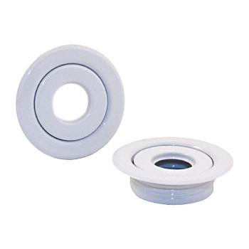 "3/4"" White 2 PC. Threaded Recessed Sprinkler Escutcheon Canopy"