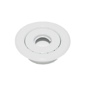 """1/2"""" IPS 2-Pc. Recessed Short Skirt Canopy Fire Sprinkler Escutcheons (Cover) White Powder Coated"""