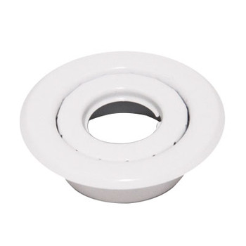 """3/4"""" IPS 2-Pc. Recessed Short Skirt Canopy Fire Sprinkler Escutcheons (Cover) White Powder Coated"""