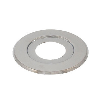 5 in. OD Recessed Canopy Extended Coverage Plate Fire Sprinkler Escutcheon - Chrome Plated