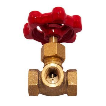 1/4 in. IPS Brass 3-Way Female Threaded Gauge Valve, UL/ULc 400 WOG