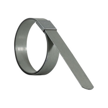 2 in. Galvanized F-Series Preformed Heavy Duty Hose Clamps - 5/8 in Nominal Width