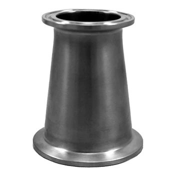 2 in. x 1.5 in. Tri-Clamp Conical Reducer, 304 Stainless Steel Tri-Clover Sanitary Fitting