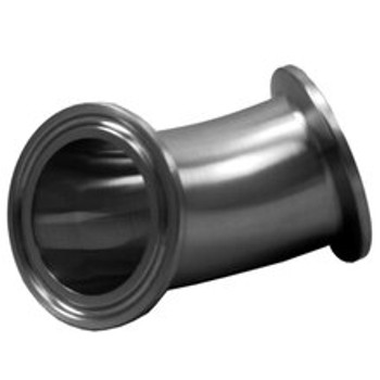 1.5 in. TC x 3/4 in. 90 Degree Reducing Tri-Clamp Elbow, 304 Stainless Steel Tri-Clover Sanitary Fitting