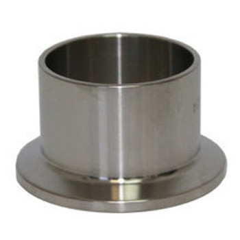 3/4 in. Tri-Clamp Ferrule (Long - 1.125 in. OAL) 304 Stainless Steel Sanitary Tri-Clover Fitting & Brewers Hardware
