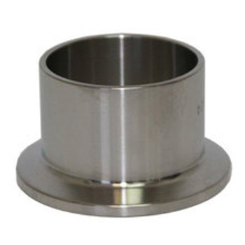 2.5 in. Tri-Clamp Ferrule (Long) 304 Stainless Steel Sanitary Tri-Clover Fittings & Brewers Hardware