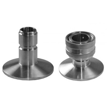 1.5 in. TC by 1/2 in. Male and Female QD 304 Stainless Steel Tri-Clamp by Quick Disconnect Fitting
