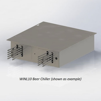 Example image: 10 Product Line Stainless Steel Commercial Beer Chiller