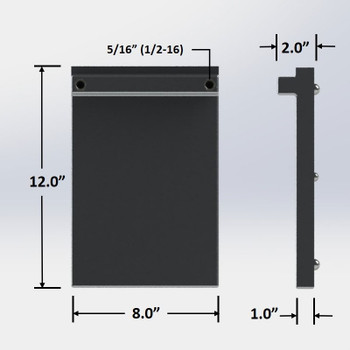 """8 in. x 12 in. Dispenser Aluminum Cold Plate: 1 Product Line with 1/4"""" Barbs"""